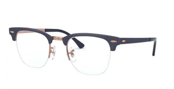 ray-ban clubmaster blue copper 3716