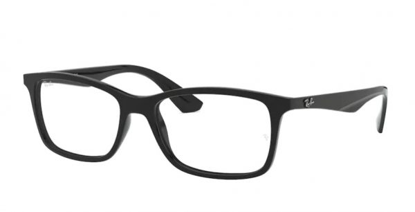 ray-ban glasses plastic 7074 black
