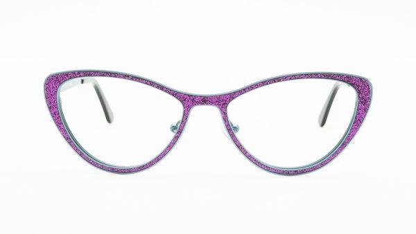 William Morris Purple Glitter Metal Glasses 1506