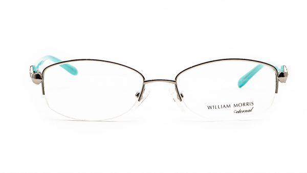 William Morris Silver Half Rimmed Metal Glasses Rachel